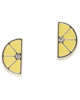 Sun Daze Lemon Stud Earrings