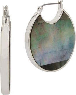 Mother-of-pearl Reversible Hoop Earrings