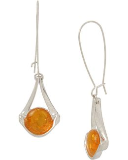 Amber Sculptural Earrings
