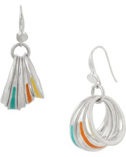 Colour Wheel Drop Earrings