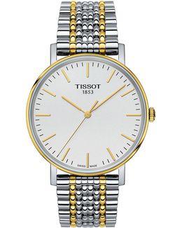 Analog T Classic Two-tone Bracelet Watch