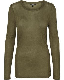 Round Neck Long Sleeve Top