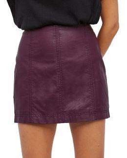 Modern Femme Vegan Mini Skirt