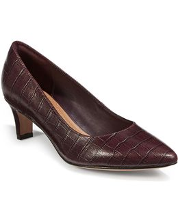 Crewso Wick Croc-embossed Pumps