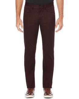 Slim-fit Sateen Pants