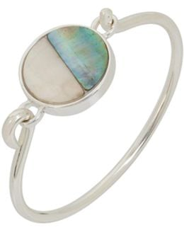 Mother-of-pearl Flip Top Cuff Bracelet