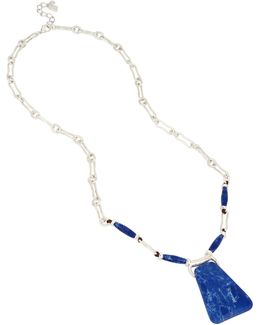 Something Blue Lapis Link Necklace