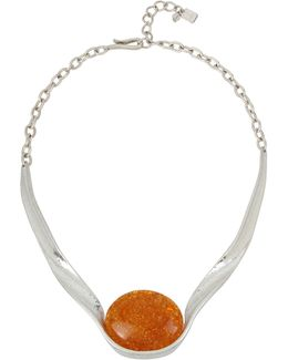 Colour Wheel Amber Sculptural Necklace