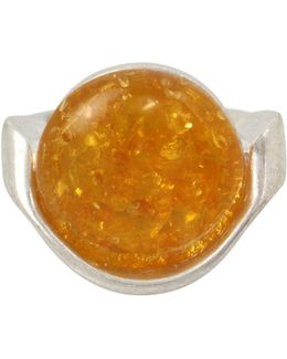 Colour Wheel Amber Sculptural Ring