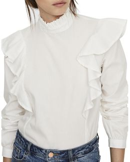 Cotton High Neck Top