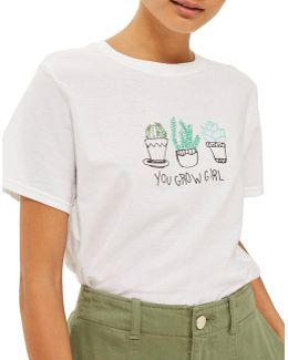 You Grow Girl Cactus Tee By Tee & Cake