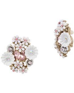 Flower Cluster Clip-on Earrings