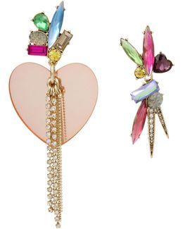 Brooklyn Heart And Stone Mismatch Earrings