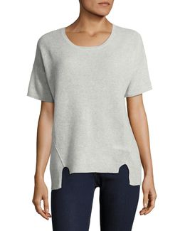 Short Sleeve Boxy Cashmere Sweater