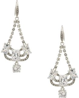 Glass Ceiling Mini Chandelier Pierced Drop Earrings