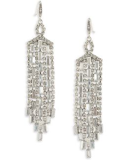Glass Ceiling Chandelier Drop Earrings