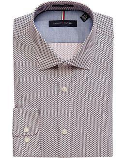 Slim-fit Printed Non-iron Dress Shirt