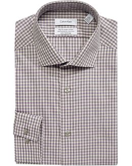 Steel Slim-fit Checkered Dress Shirt