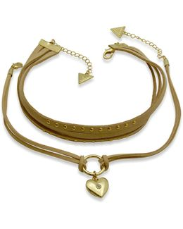 Two-piece Rose Goldtone Choker Necklace Set