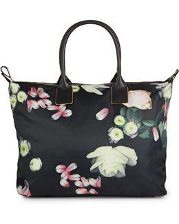 Kensington Floral Large Nylon Tote Bag