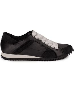Frayed Trainer Low Top Sneakers