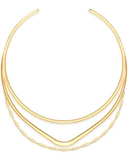 Goldtone Multi-row Torque Necklace