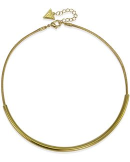 Goldtone Capsule Torque Necklace