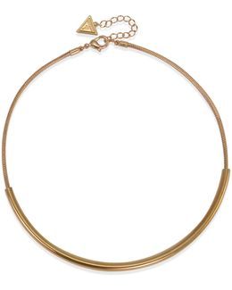 Rose-goldtone Capsule Torque Necklace