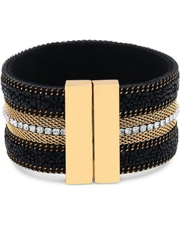 Lets Flirt Goldtone Multi-row Magnetic Bracelet