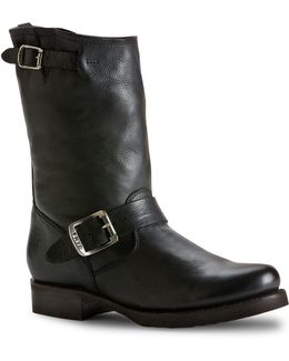 Veronica Leather Mid-calf Boots