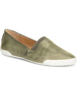 Melanie Leather Slip-on Sneakers