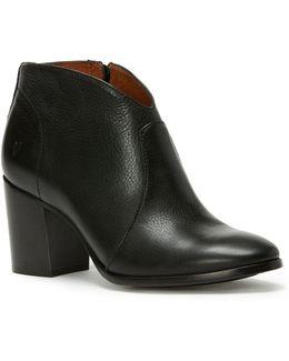 Nora Zip Leather Booties