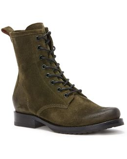 Veronica Leather Combat Boots