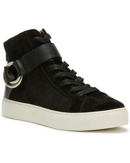 Lena Harness Leather High-top Sneakers