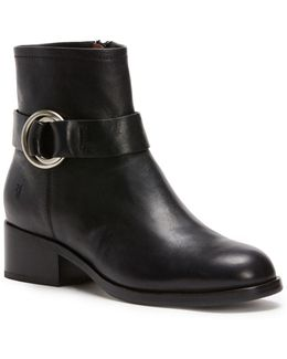 Kristen Harness Leather Booties