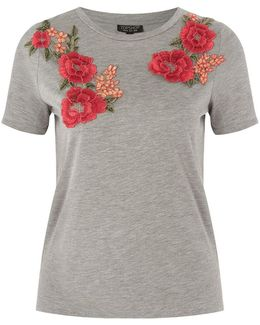 Floral Applique T-shirt