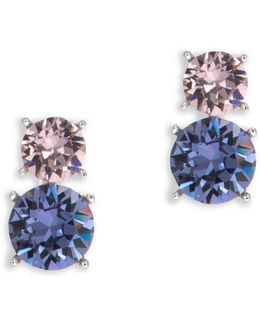 Stacked Crystal Stud Earrings