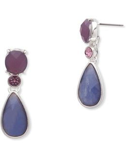 Aventura Pave Drop Earrings
