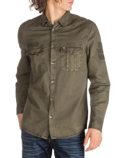 Patch Casual Button-down Shirt