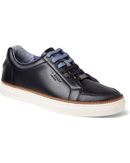 Mens Rouu Leather And Suede Low Top Sneakers