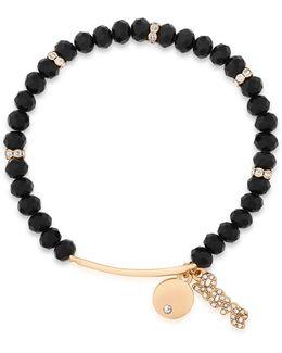 Pave Charm Stretch Bracelet