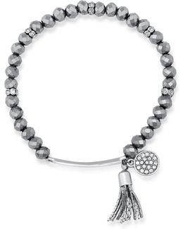 Tassel Charm Stretch Bracelet