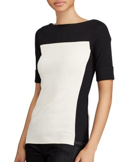 Petite Colorblock Cotton Tee