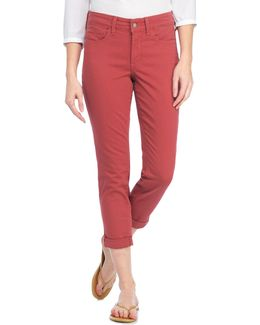Alina Tonal Stitched Cropped Jeans