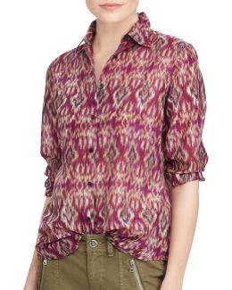 Petite Voile Button-down Shirt