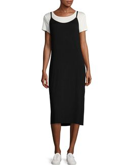 Layered Midi Slip Dress