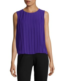 Pleated Bubble Top