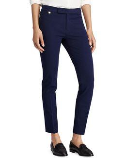 Stretch Twill Mid-rise Skinny Pants