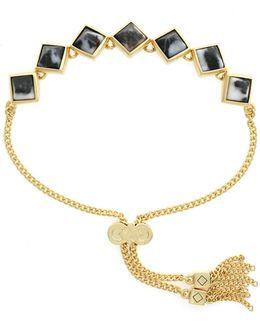 Diamond Line Pull Tie Bracelet