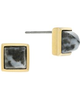 Crystal Stone Square Stud Earrings